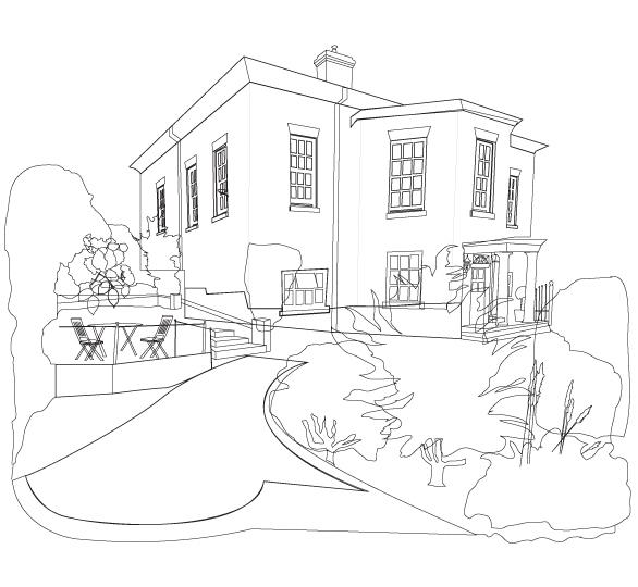 add colour to your image using illustrator live paint tool - Draw Your House