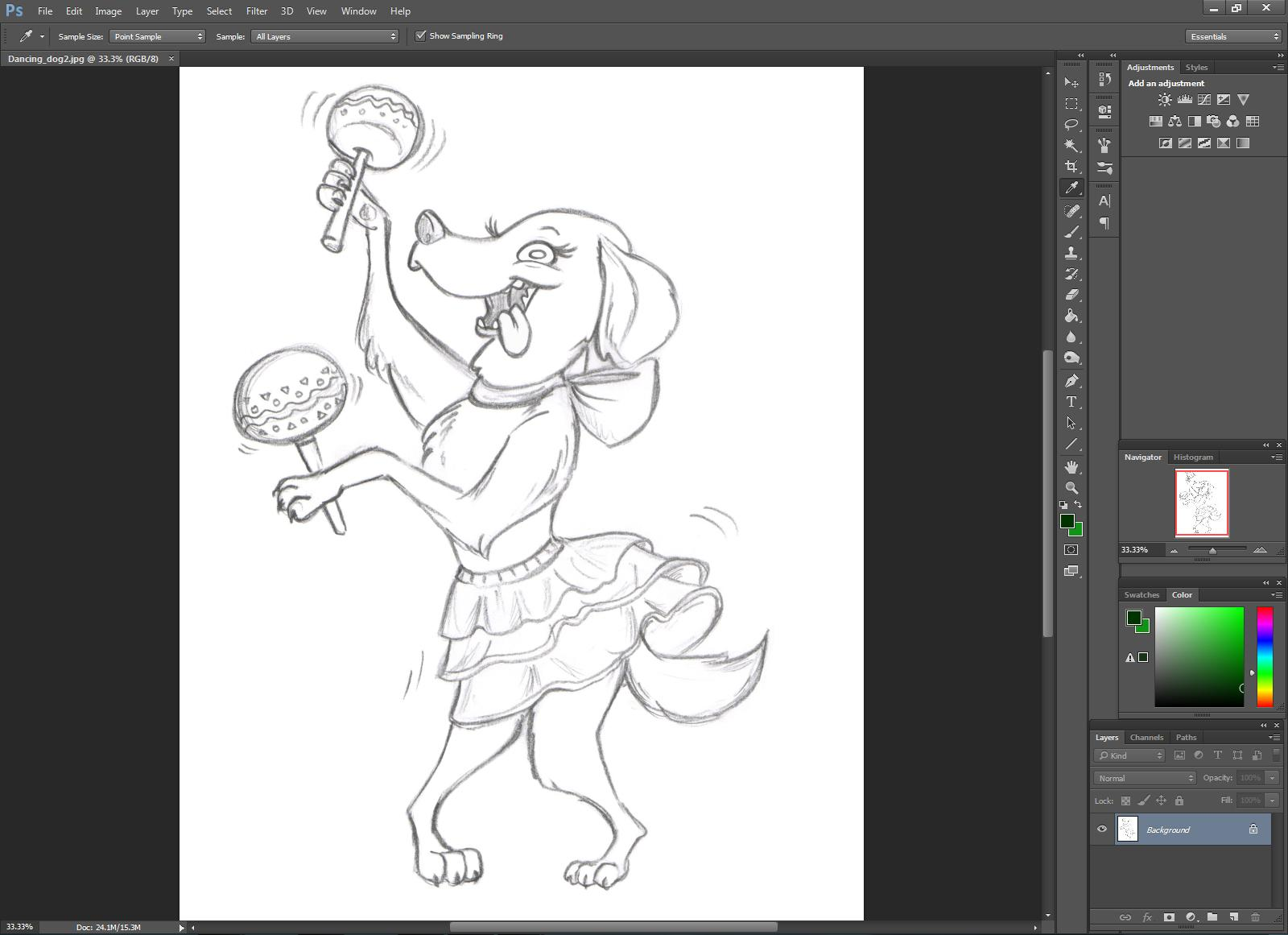 Color lineart in photoshop - A Single Layer Will Be Created In The Layers Panel A Small Lock Appears Next To The Layer To Unlock The Image Double Click The Layer And Click Okay