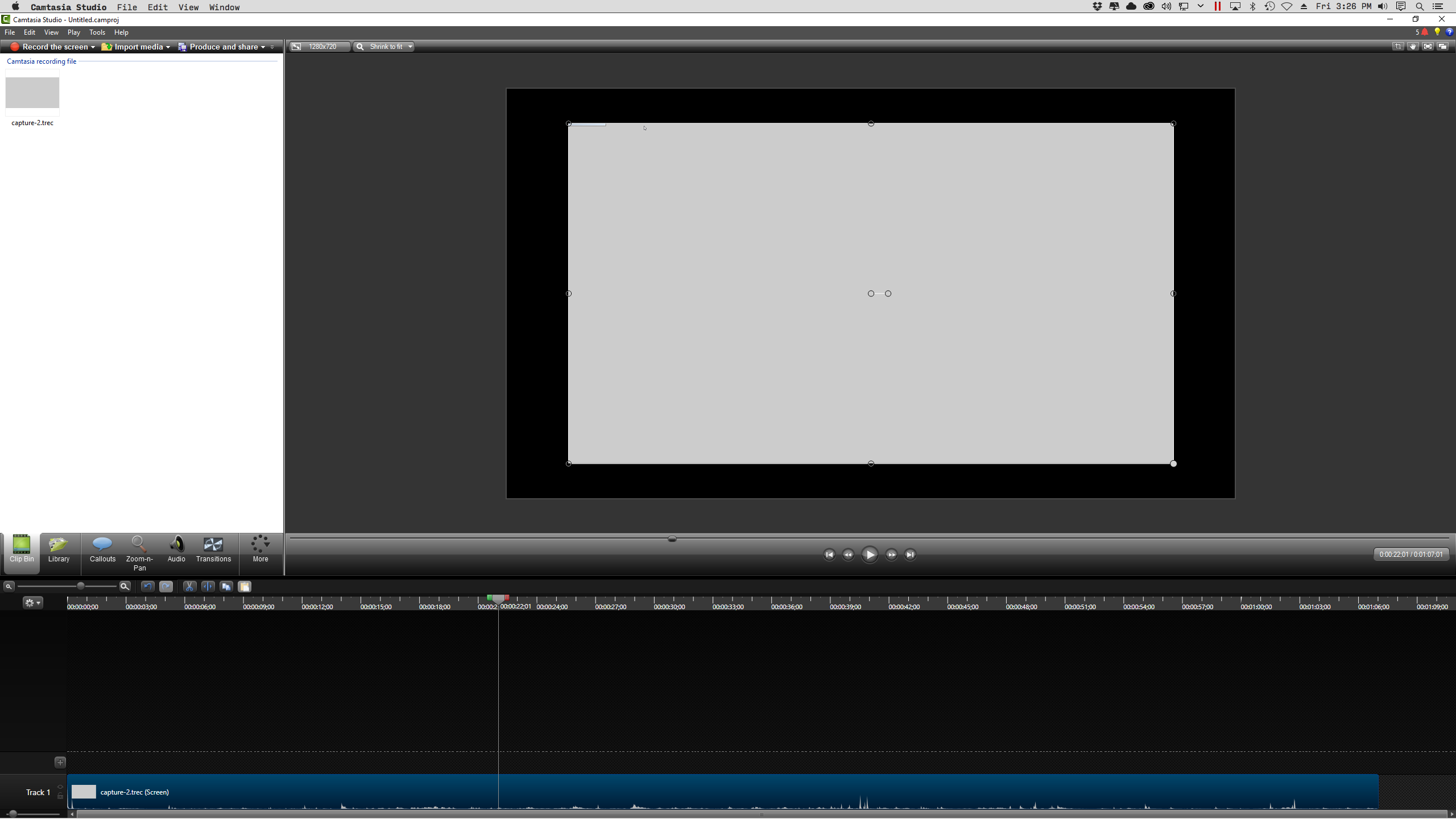 Recording editing and exporting with camtasia studio for windows a white border will appear and allow you to drag at the corners to resize and place the videos you can also rotate from the center handle ccuart Image collections