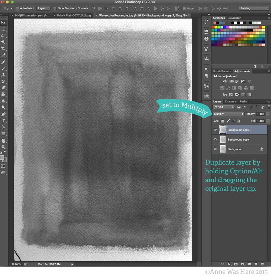 Adding textures to photoshop illustrations skillshare step 3 bringing a texture into your illustration ccuart Choice Image