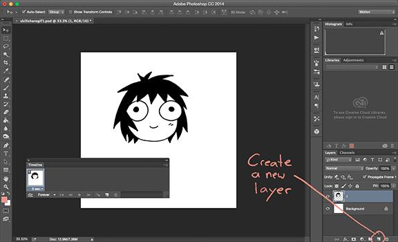 Drawing a gif in photoshop skillshare once youve got the first drawing you can hit the eye button beside it to turn it off if youre making minor edits to one static drawing like i am ccuart Choice Image
