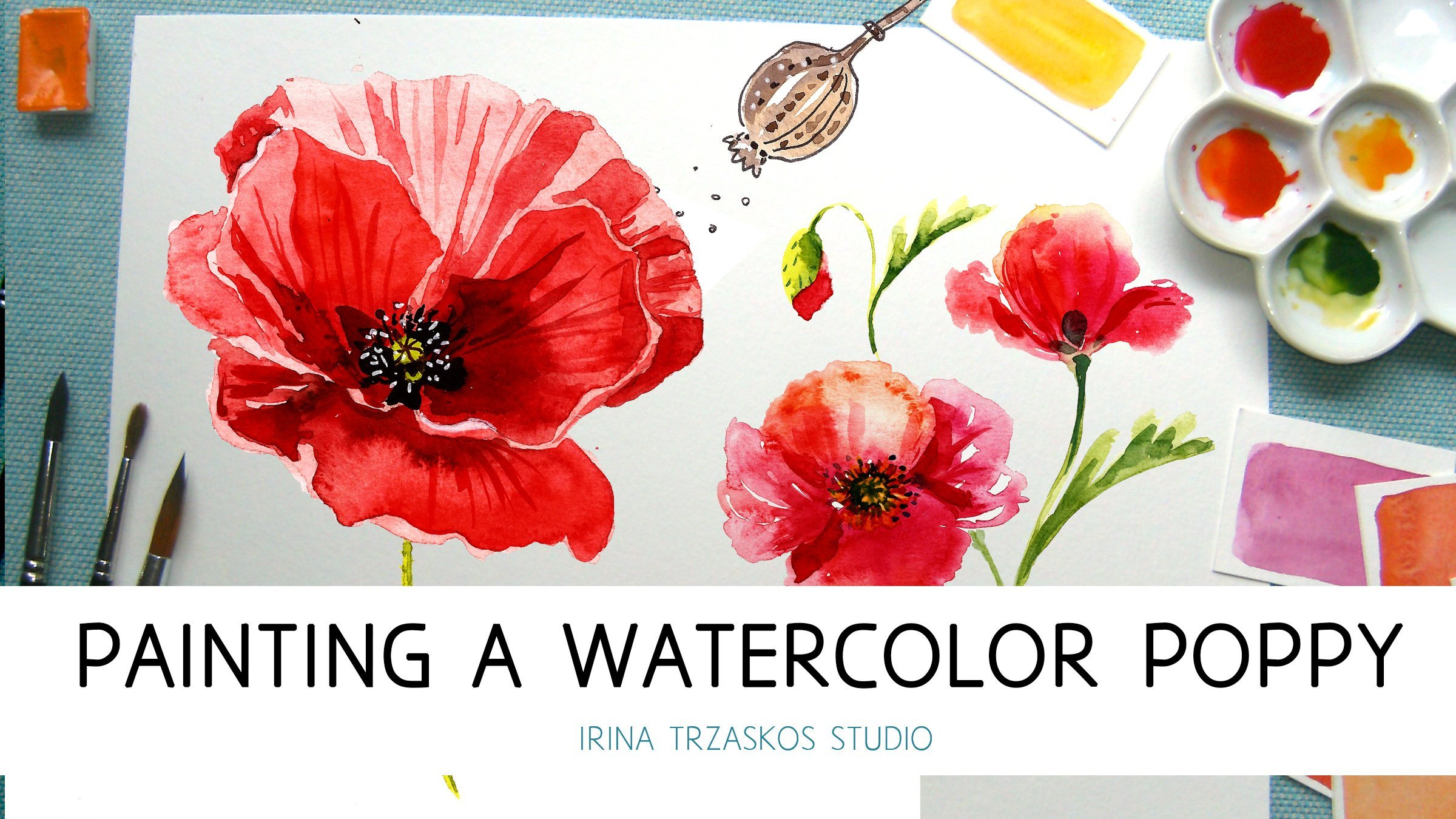 Painting a watercolor poppy explore 3 watercolor styles irina painting a watercolor poppy explore 3 watercolor styles irina trzaskos skillshare mightylinksfo