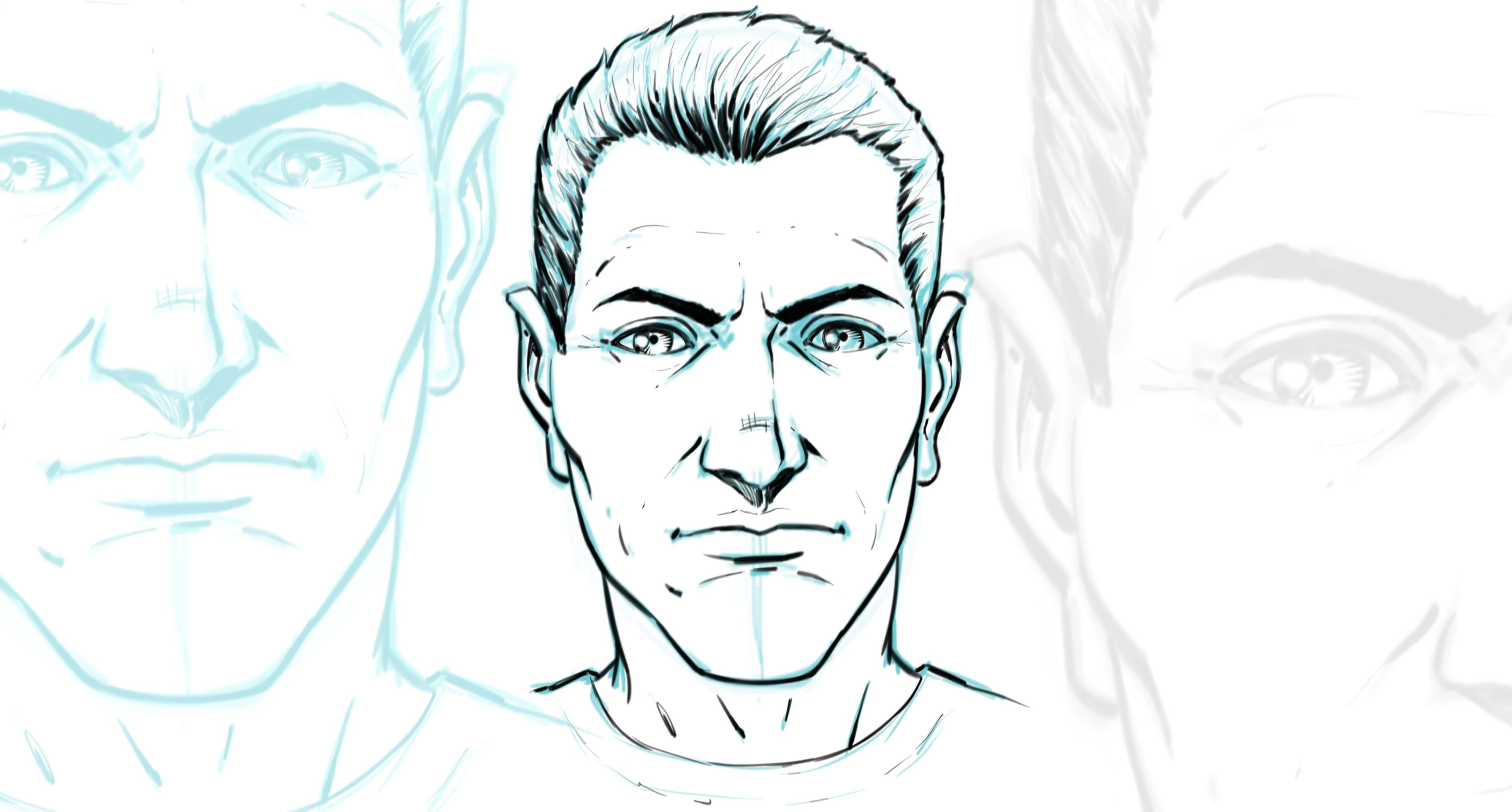How to Draw Comic Book Style Faces in Sketchbook Pro 8 | Robert Marzullo