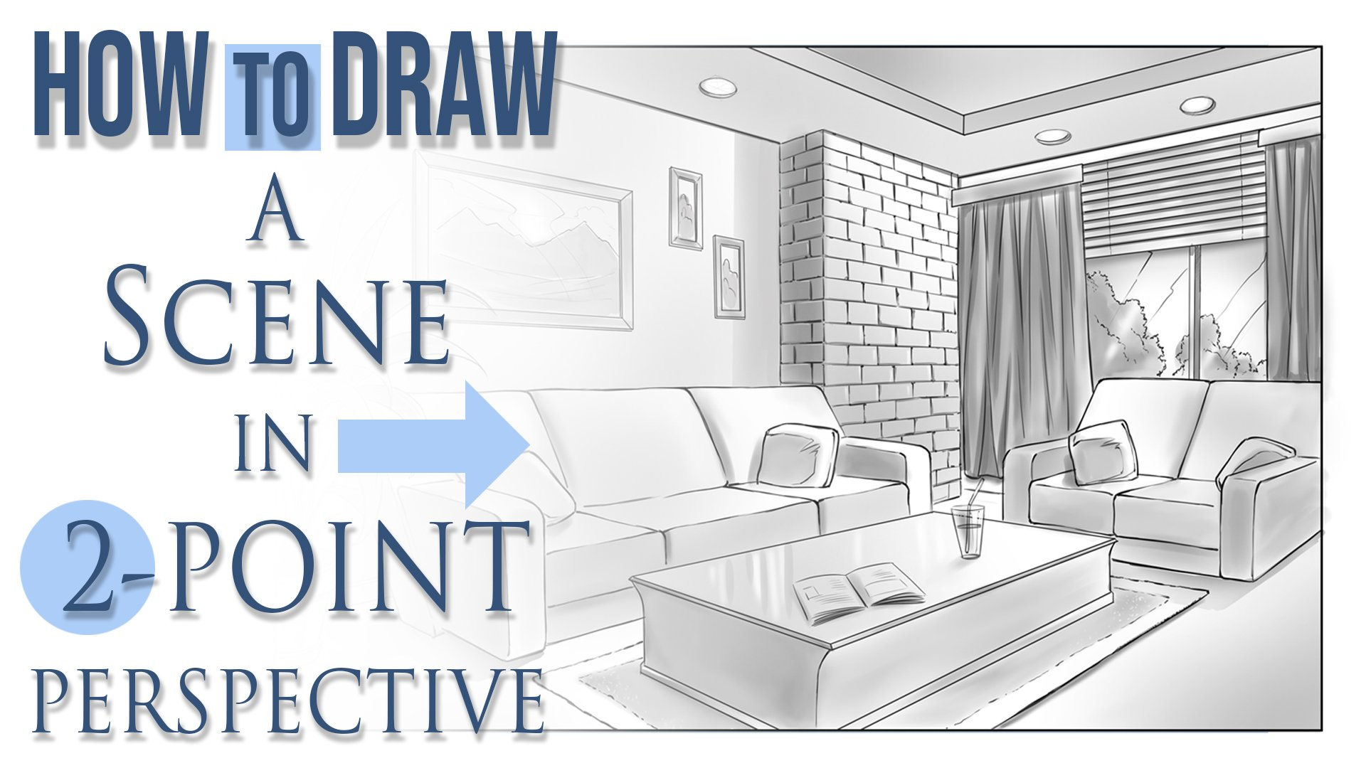 Drawing A Scene In 2 Point Perspective Robert Marzullo Skillshare