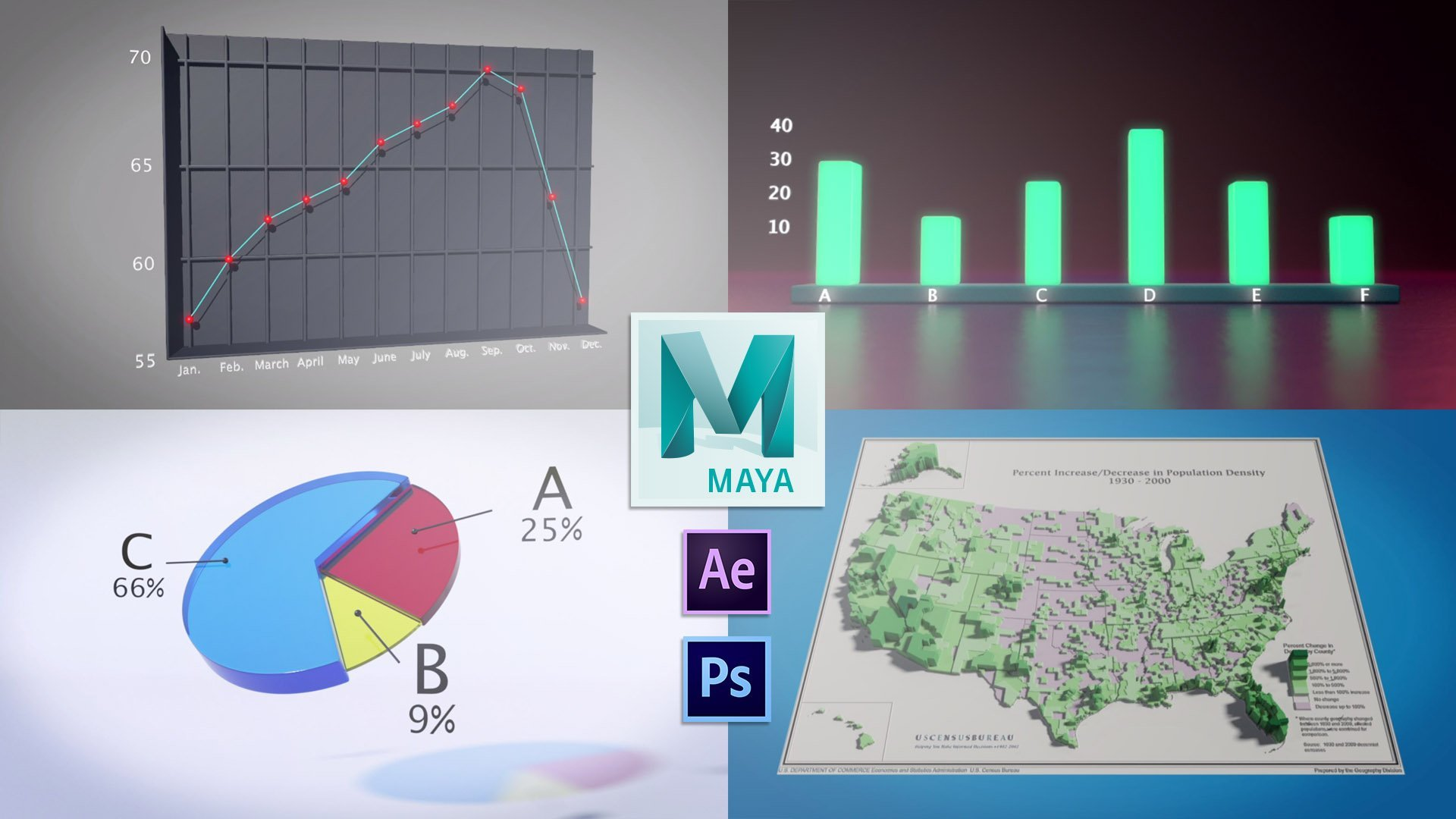 3D Animation & Data Visualization in Autodesk Maya | Lucas Ridley