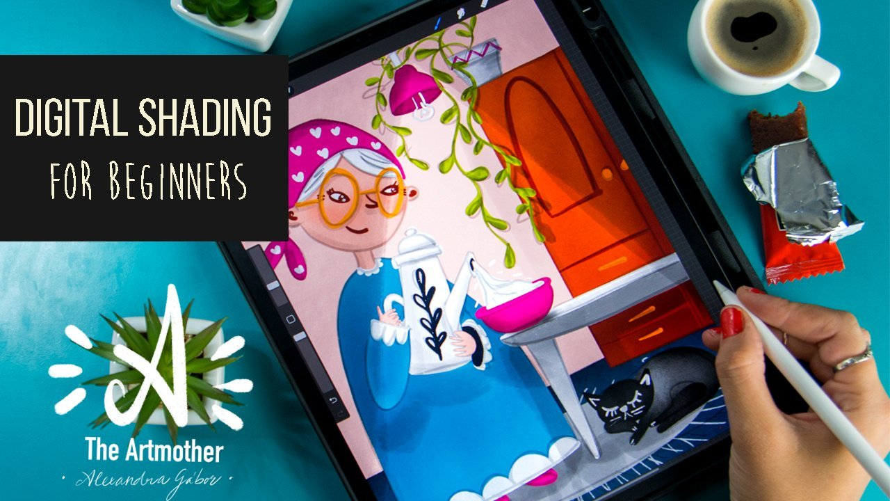 Digital Shading For Beginners Shading Strategies For Digital Illustrations The Artmother Skillshare