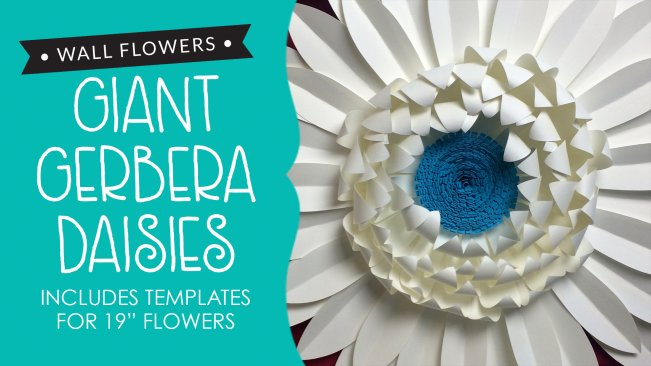 Wall Flowers: Giant Gerbera Daisies (Includes Templates) | Heather ...