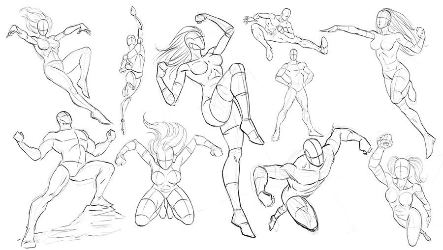 How to Draw Dynamic Poses for Comics | Robert Marzullo