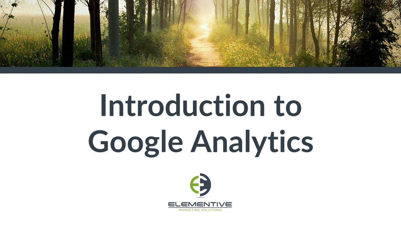 an introduction to the google analytics This google analytics course is an introduction to successfully use google analytics to track your online roi and marketing campaigns across your website(s).