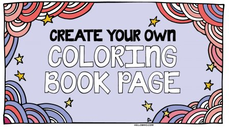 make your own diy coloring book page for watercolors jenn coyle skillshare