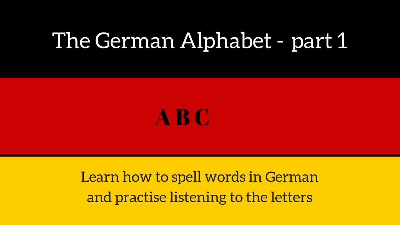 The German Alphabet part 1 - say the ABC & spell your name in German