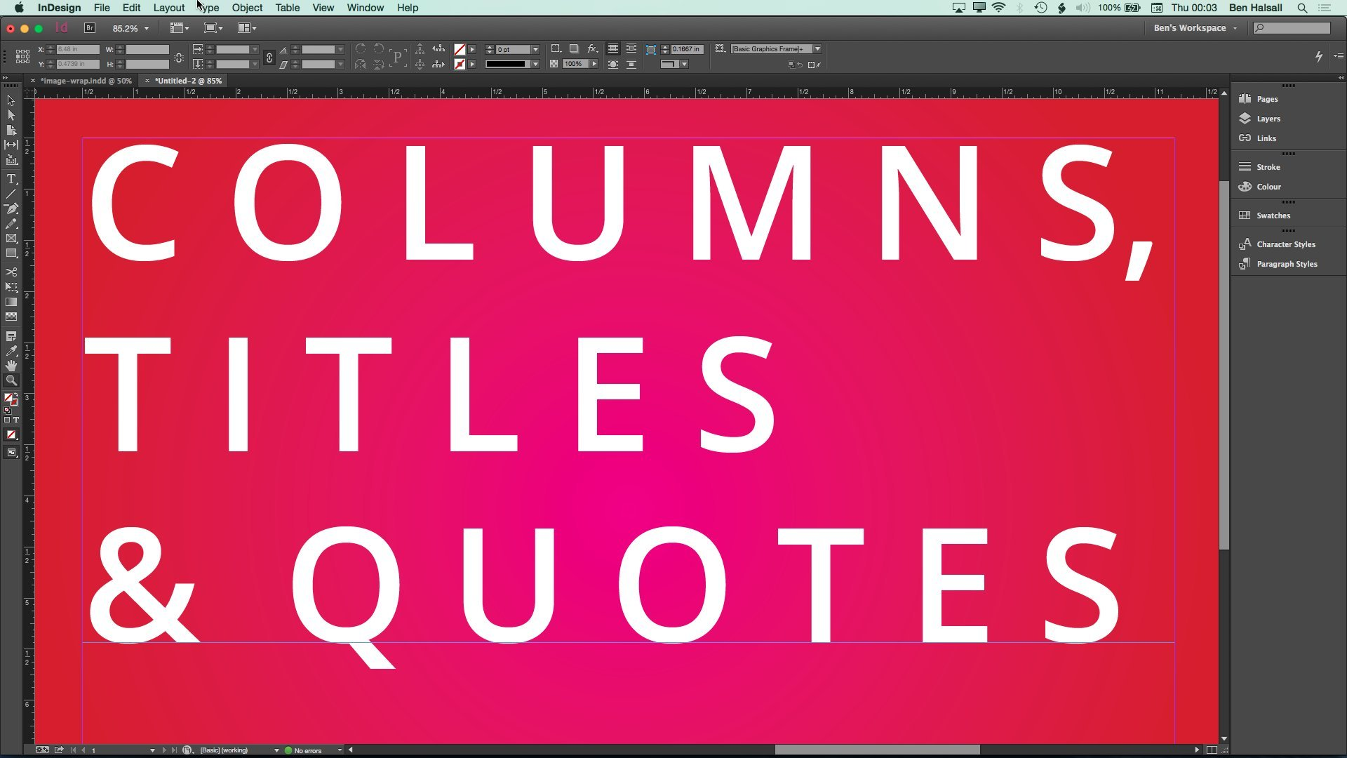 how to get warning hidden text indesign