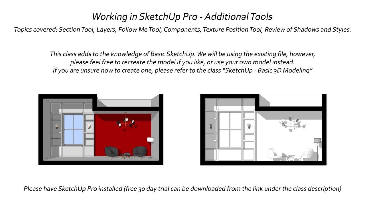 Working in SketchUp - Intermediate Tools | Leyla A | Skillshare