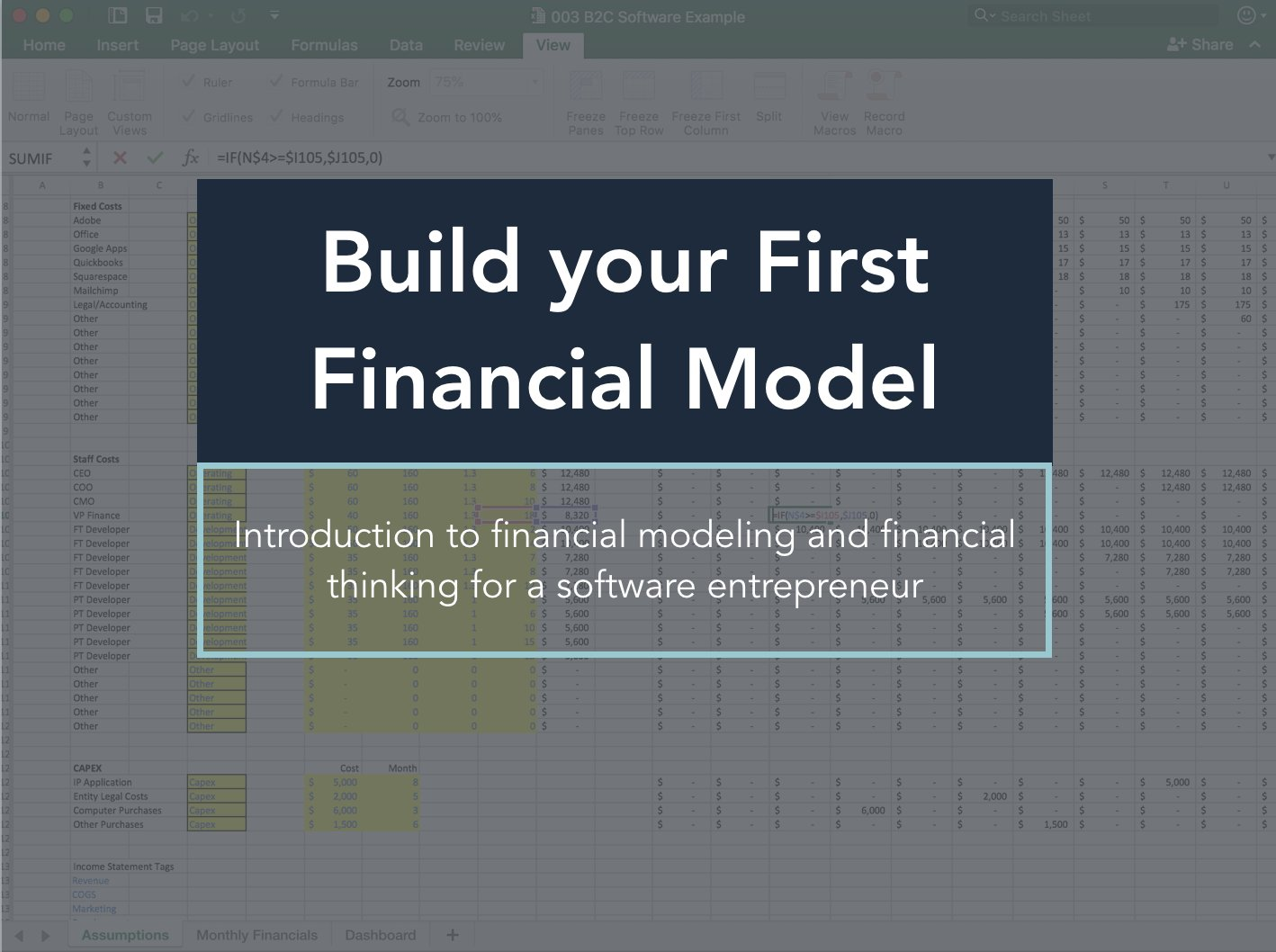 Financial Modeling For Software Startups