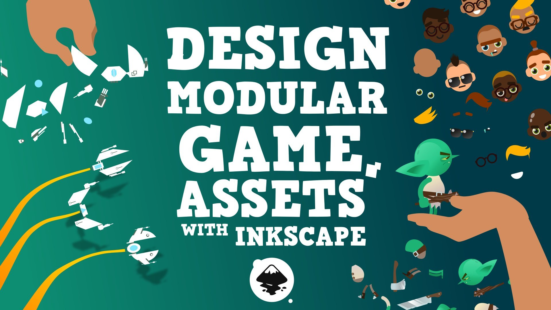 Design modular game assets with Inkscape!