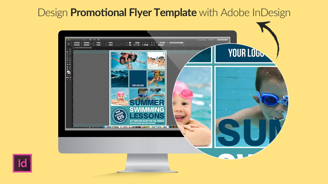 Design Promotional Flyer Template With Adobe Indesign Part 1