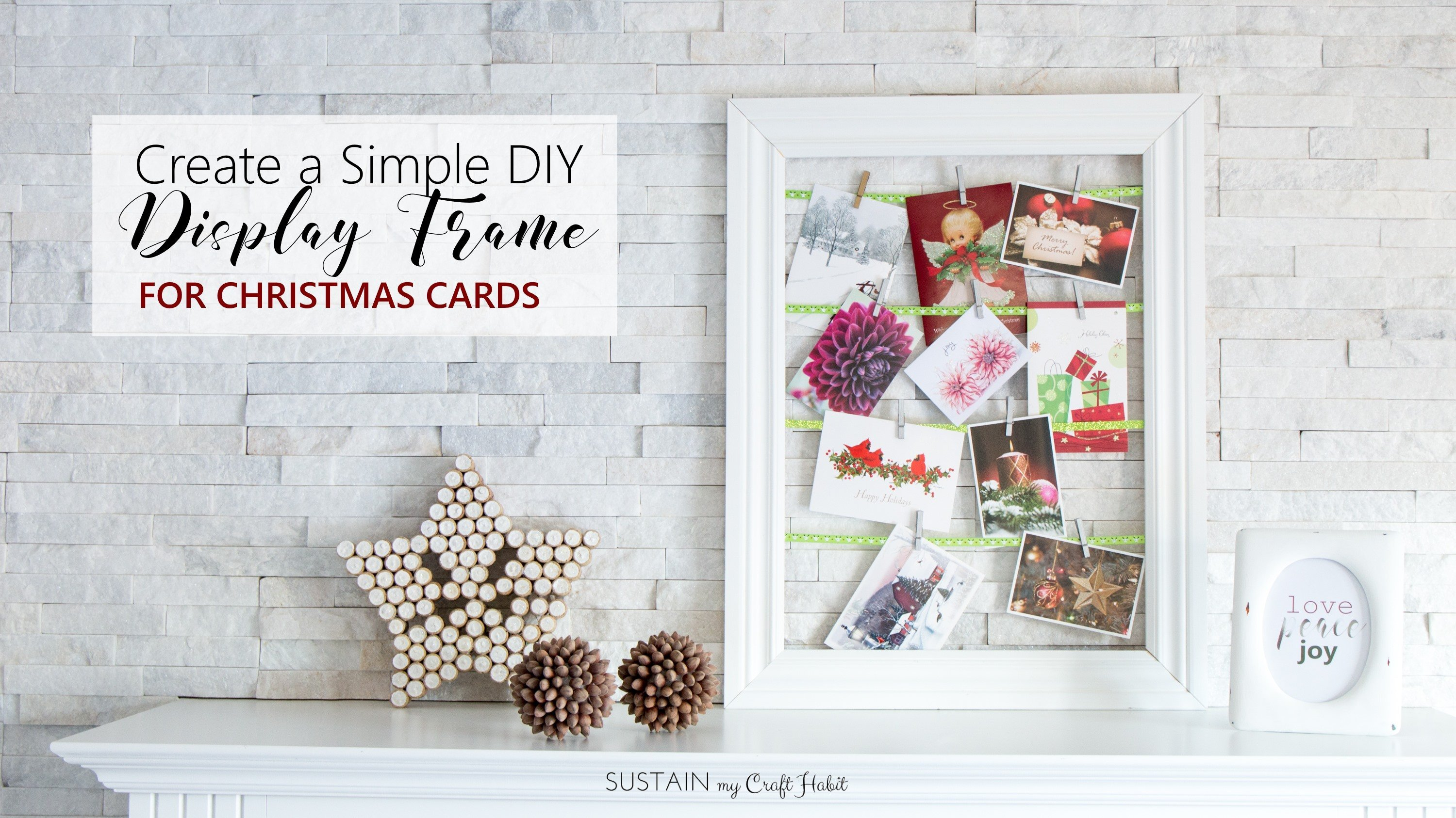 create a simple diy display frame for photos and greeting cards jane and sonja skillshare