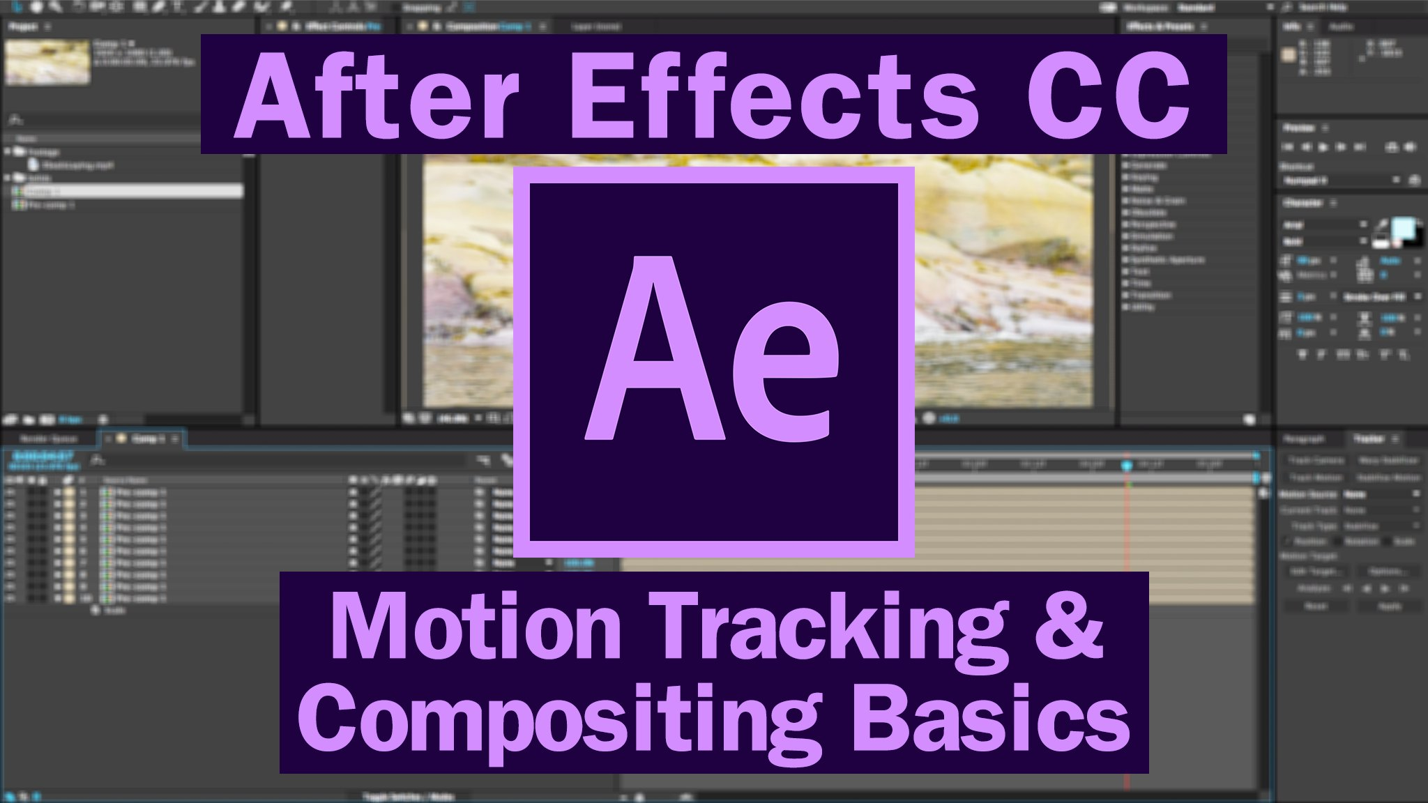 Adobe After Effects CC: Motion Tracking & Compositing Basics