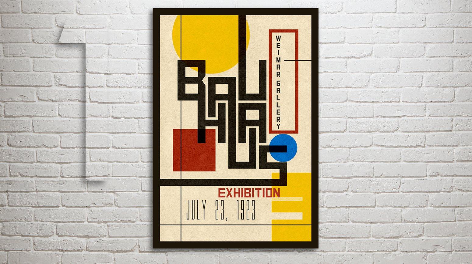 Photoshop: How to Design Create a Vintage, Bauhaus Poster | Marty Geller