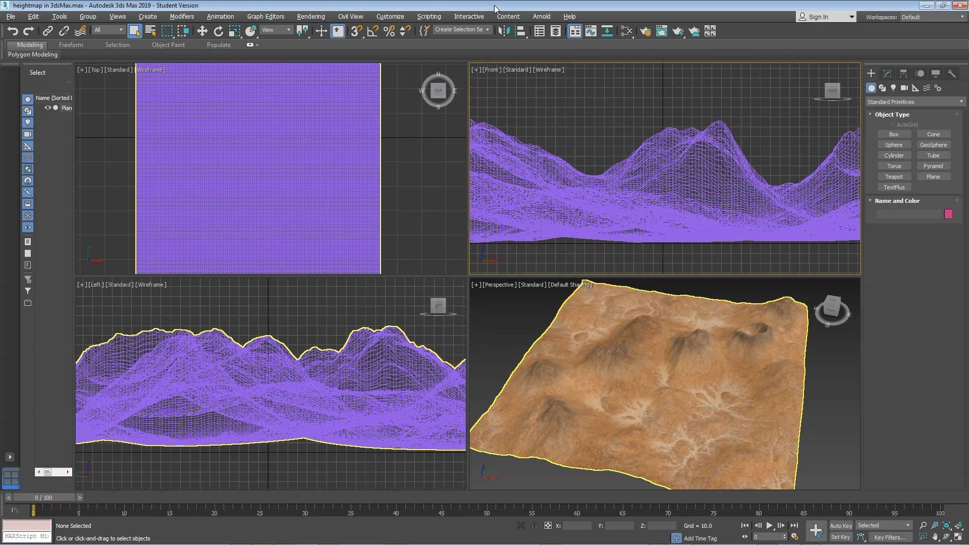 Import a Textured Terrain in Blender, Cinema 4D, Maya, 3ds Max