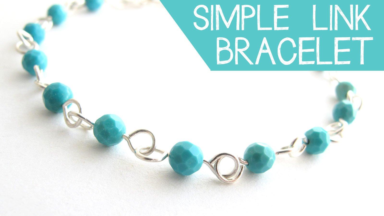 DIY Jewelry: Make a Simple Wire Link Bracelet   Jessica Barst ...