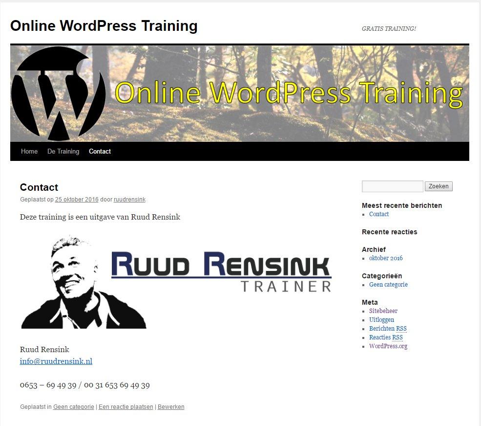 Hoe maak je binnen het uur een volledige internetsite met WordPress?