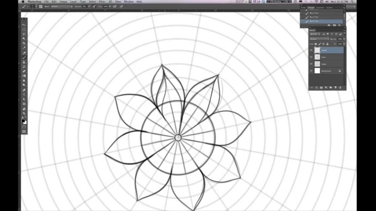 Drawing Lines With Core Graphics : Illustrate a custom mandala design in adobe photoshop with your