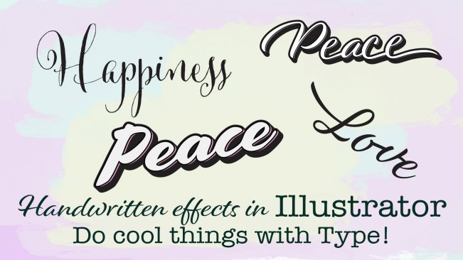 Create Cool Handwritten Effects inside of Adobe Illustrator | Maggie