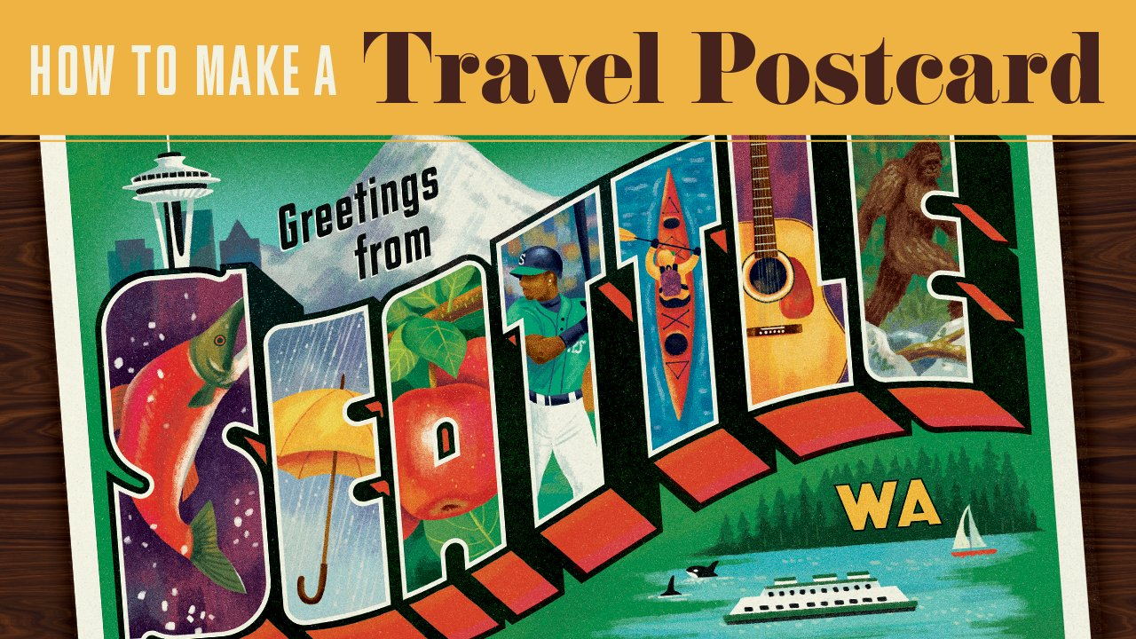 How to make a travel postcard of your favorite city brad woodard how to make a travel postcard of your favorite city brad woodard skillshare m4hsunfo