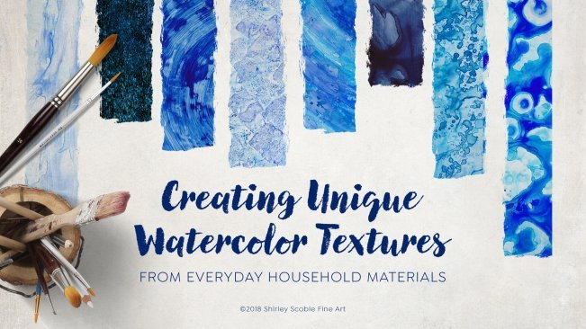 Create Unique Watercolor Textures with Everyday Household Materials