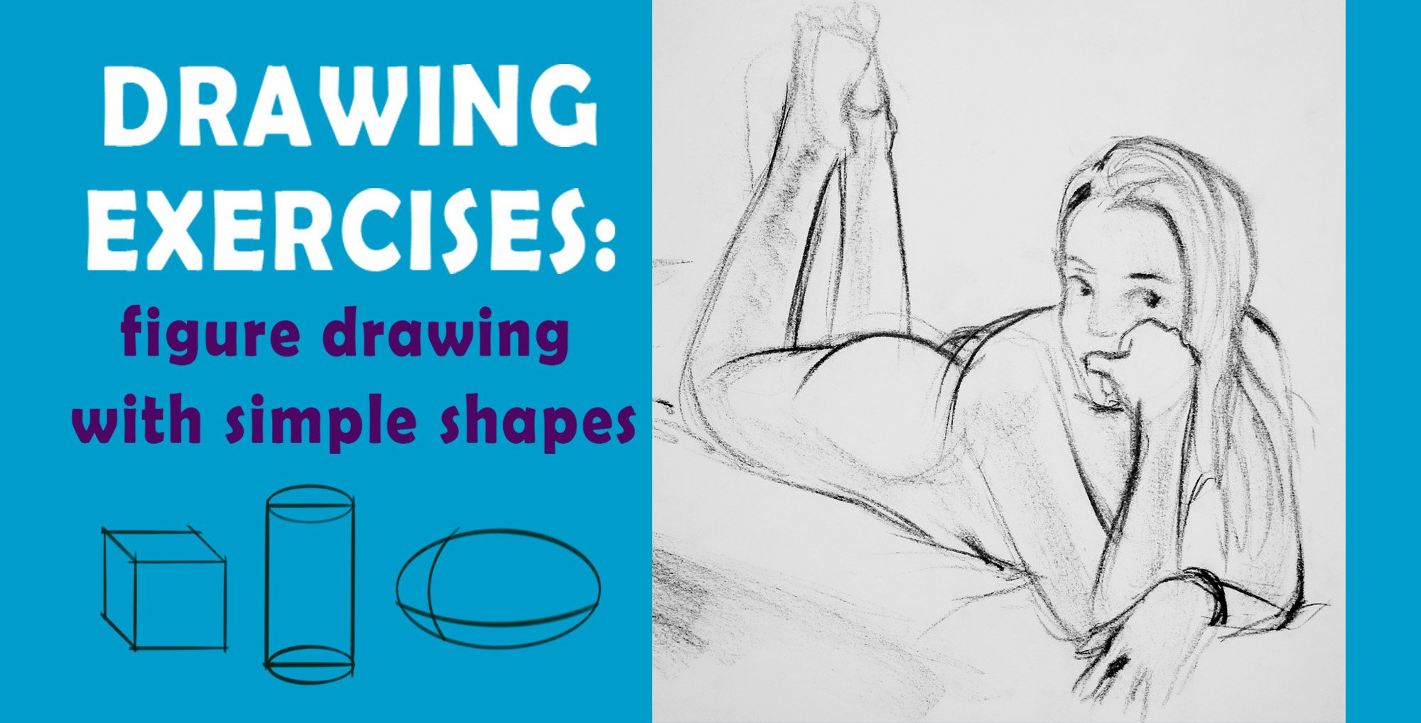 Drawing exercises: figure drawing with simple shapes