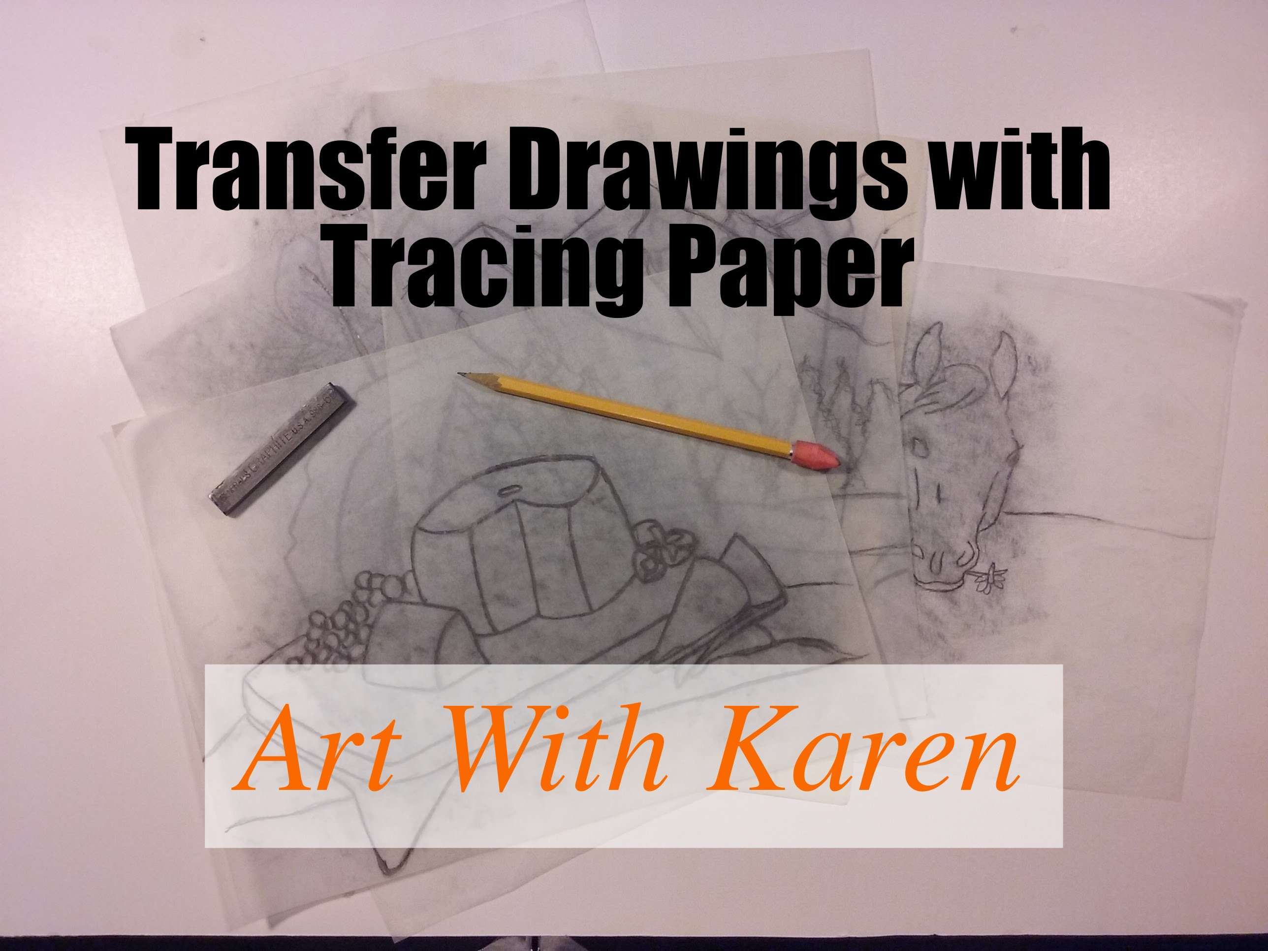 transfer drawings with tracing paper