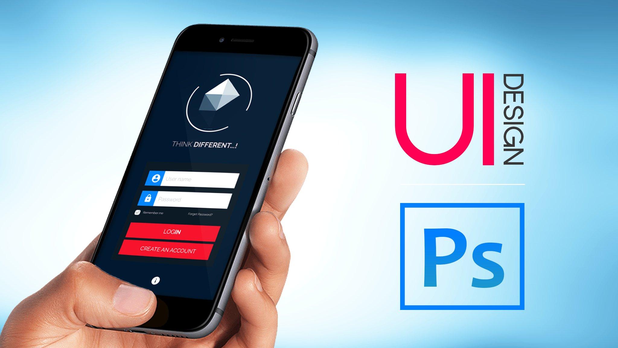 UI Design | Mobile App UI in Adobe Photoshop | HU Shahir