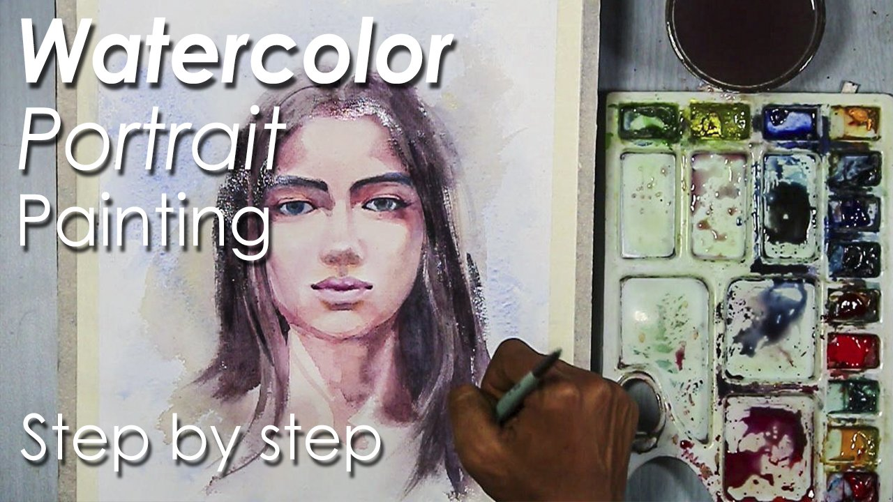 watercolor portrait painting how to paint a girl face skin tones