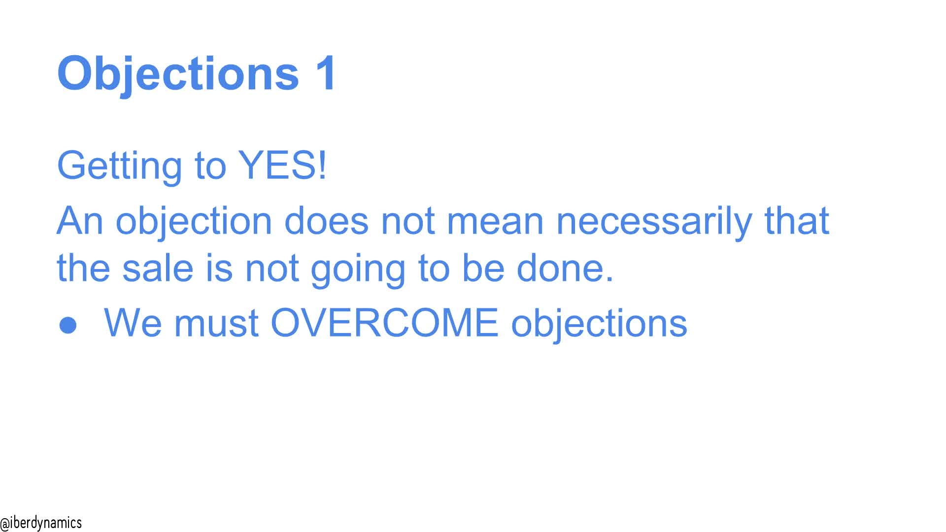 overcoming objections in sales