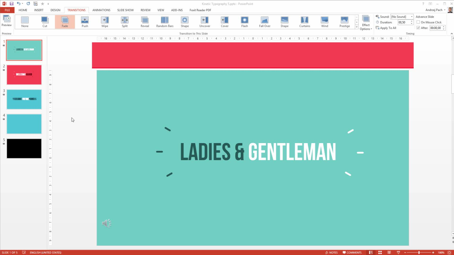 Kinetic Typography in Powerpoint: Make an Animation Video | Andrzej
