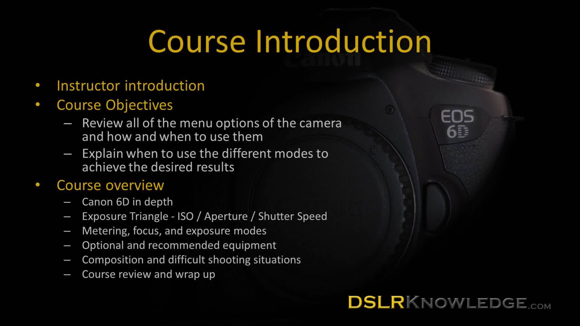 Online course preview