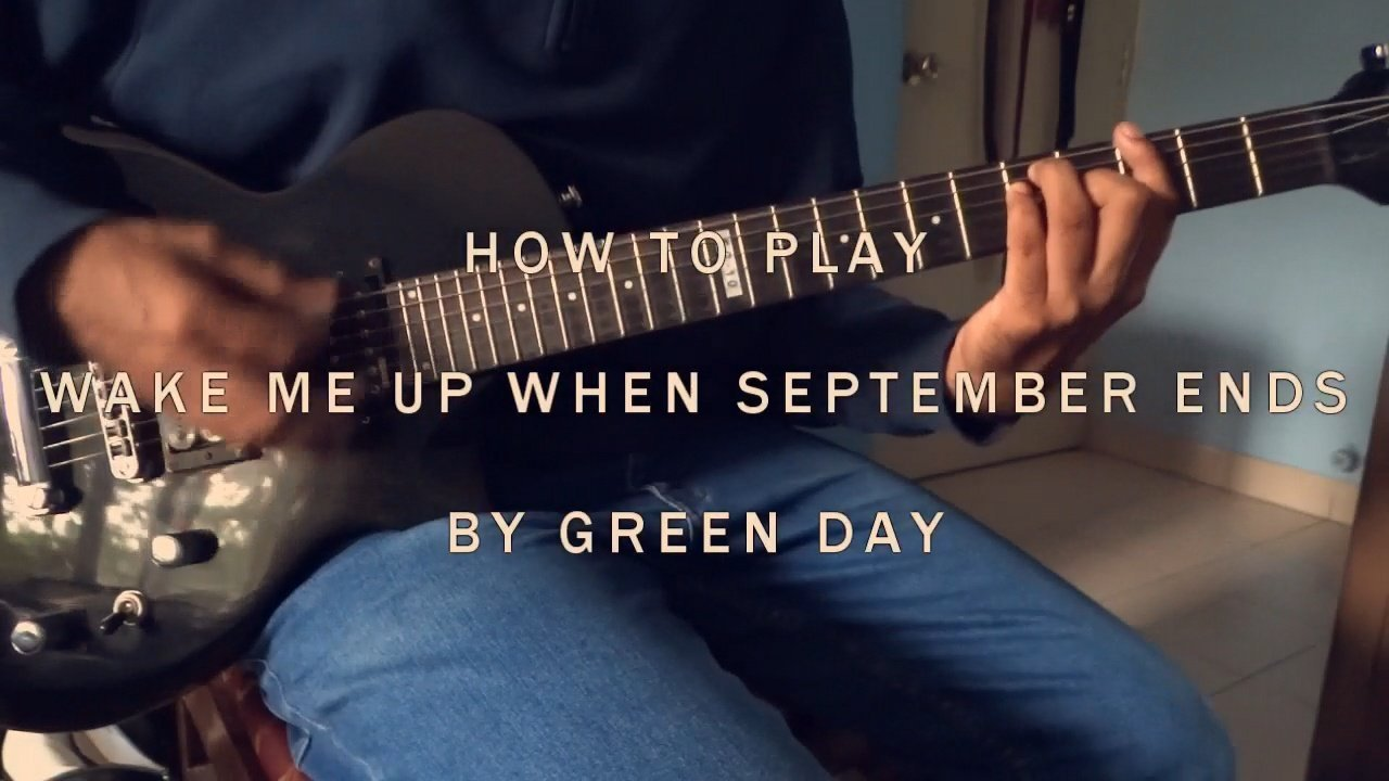How To Play Wake Me Up When September Ends By Green Day Guitar