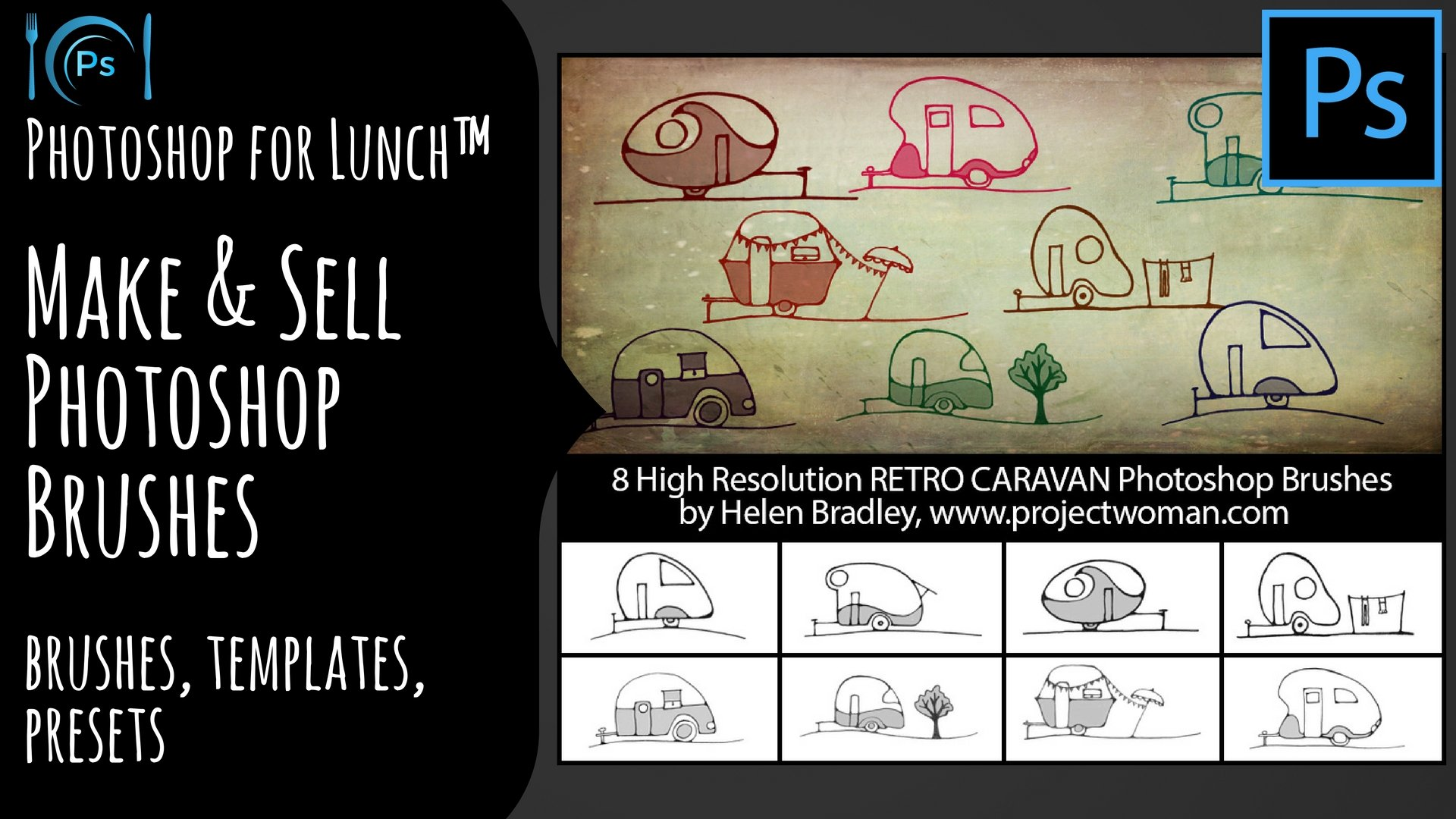 Photoshop for Lunch™ - Make & Sell Photoshop Brushes - Brushes