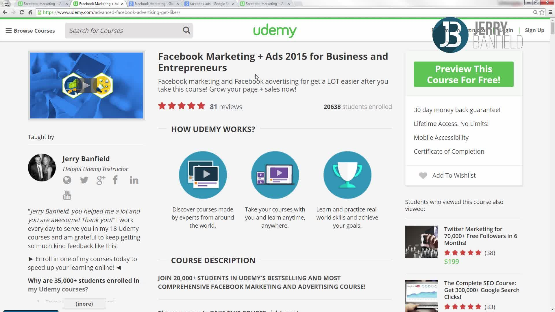 The Complete Google AdWords Course: Beginner to Advanced!   Jerry