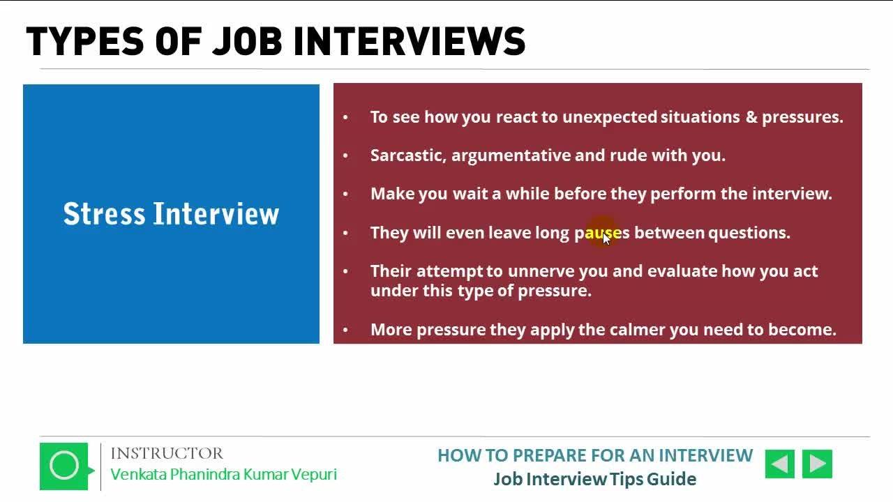 How To Prepare For An Interview   Job Interview Tips Guide | Venkata  Phanindra Kumar Vepuri | Skillshare