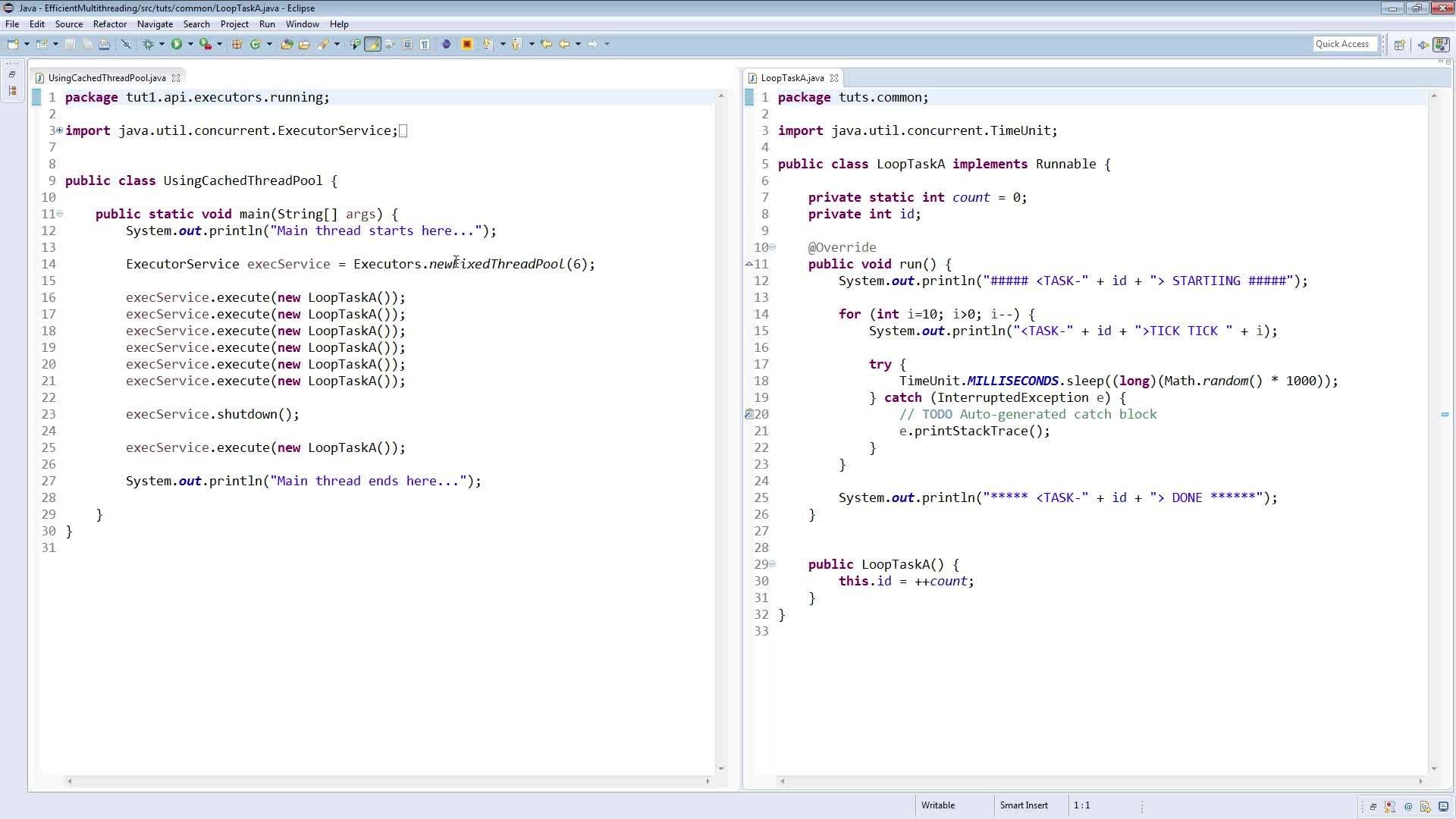 Java multithreading using executors framework arun k skillshare baditri Gallery