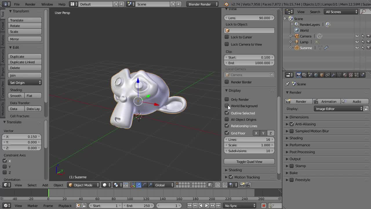 Blender 3d crash course for beginners oliver villar skillshare baditri Image collections