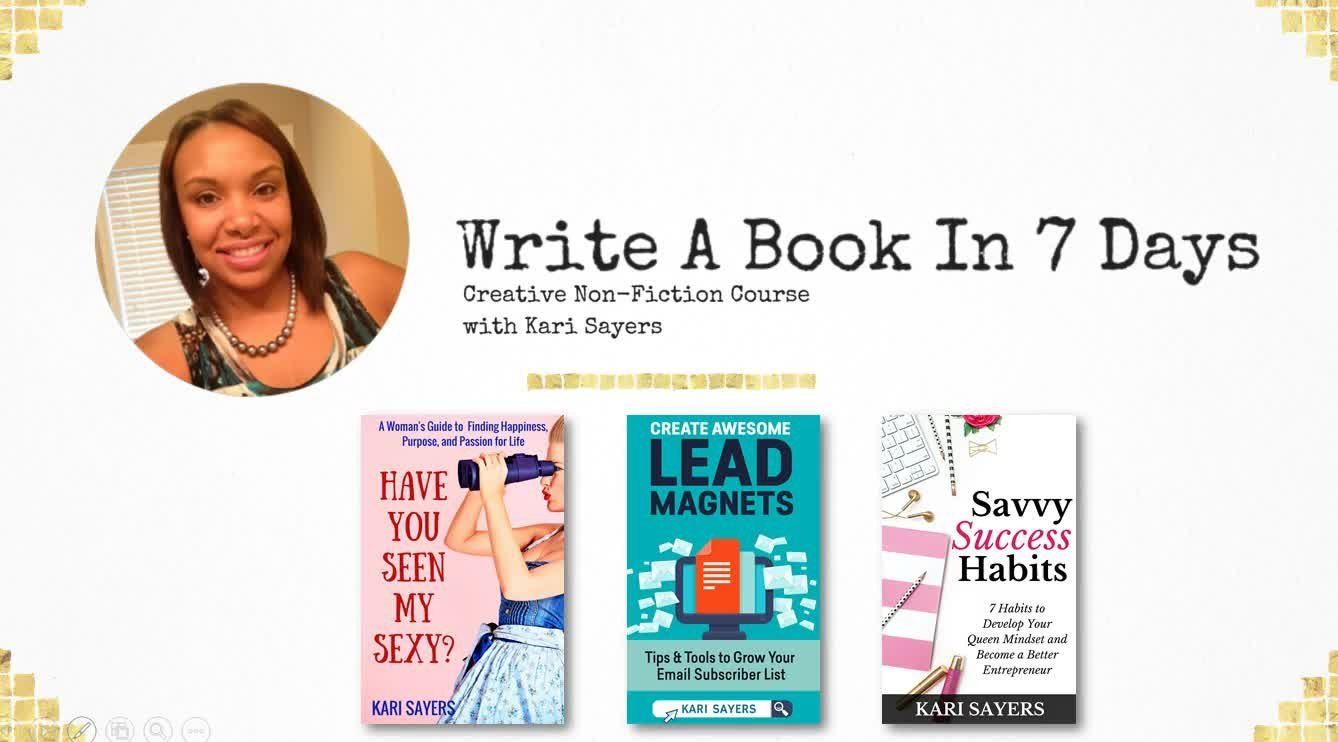Creative Non-Fiction: How to Outline and Write A Book In 7 Days Image
