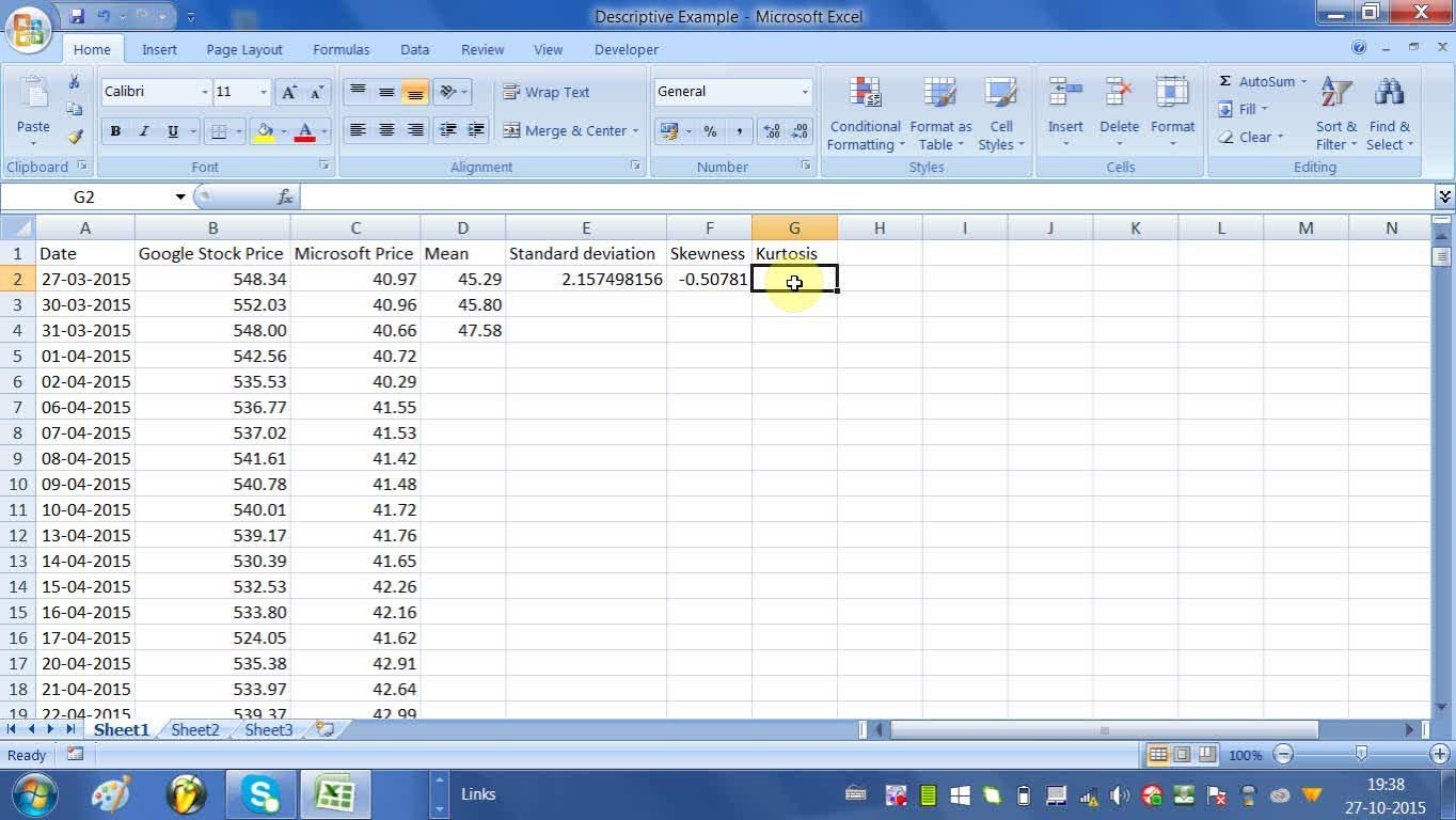 Doing Descriptive Statistical Analysis in Excel | Ash