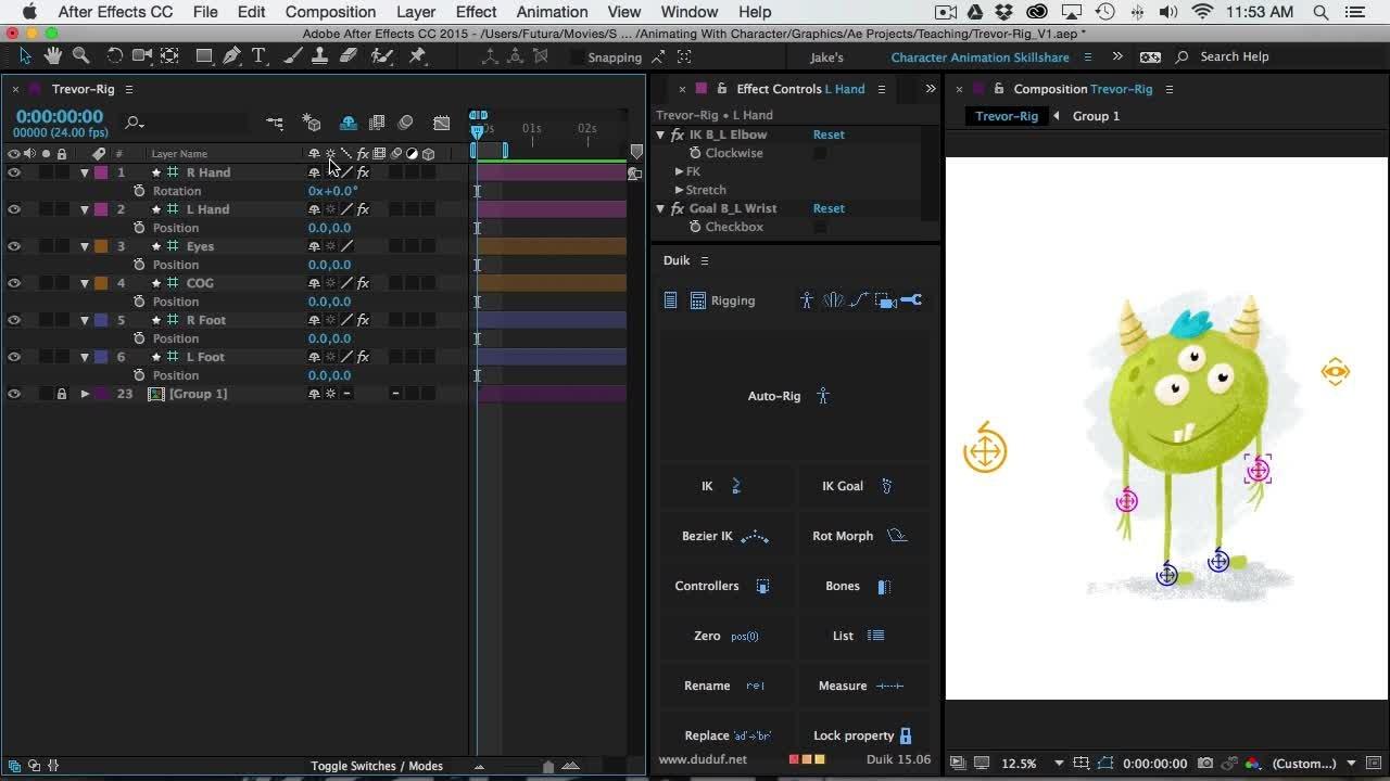 Animating With Character - Rigging | Jake Bartlett | Skillshare