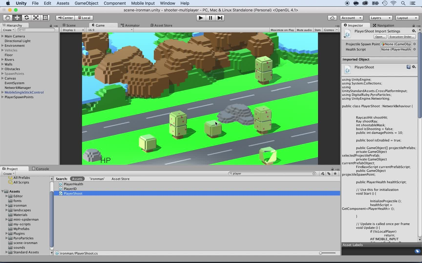 Unity Multiplayer 2016 -Build Online Shooter - code included