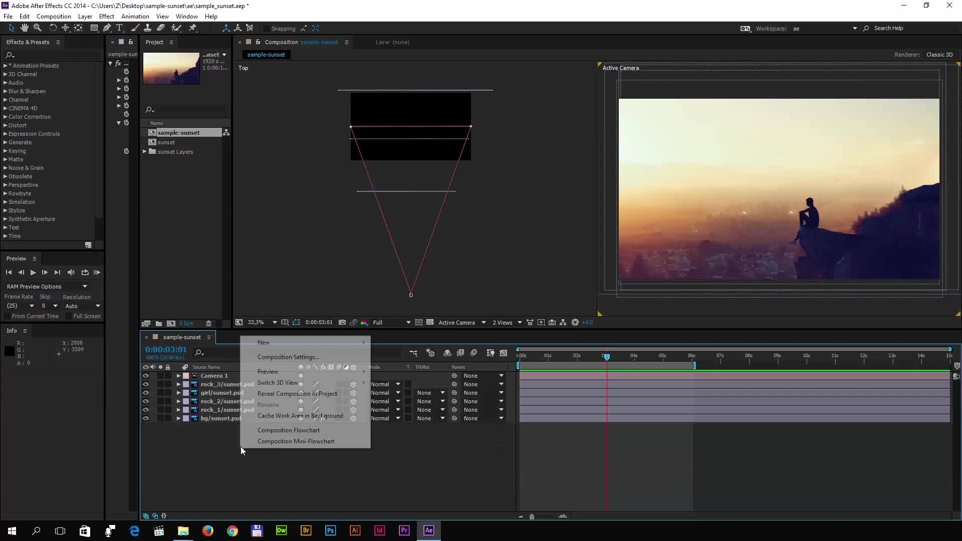 Turn a 2d photo into a 3d animation with After Effects