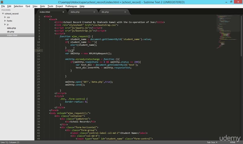 Learn AJAX Techniques Using Bootstrap Complete Web Developer Course