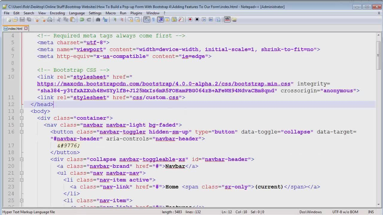 How to create a pop up form with bootstrap 4 robin haney skillshare falaconquin